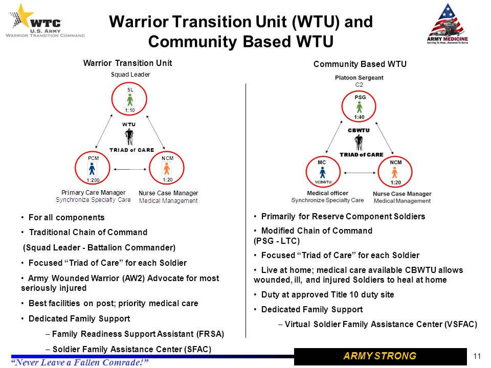 Warrior Transition Unit (WTU) and Community Based WTU