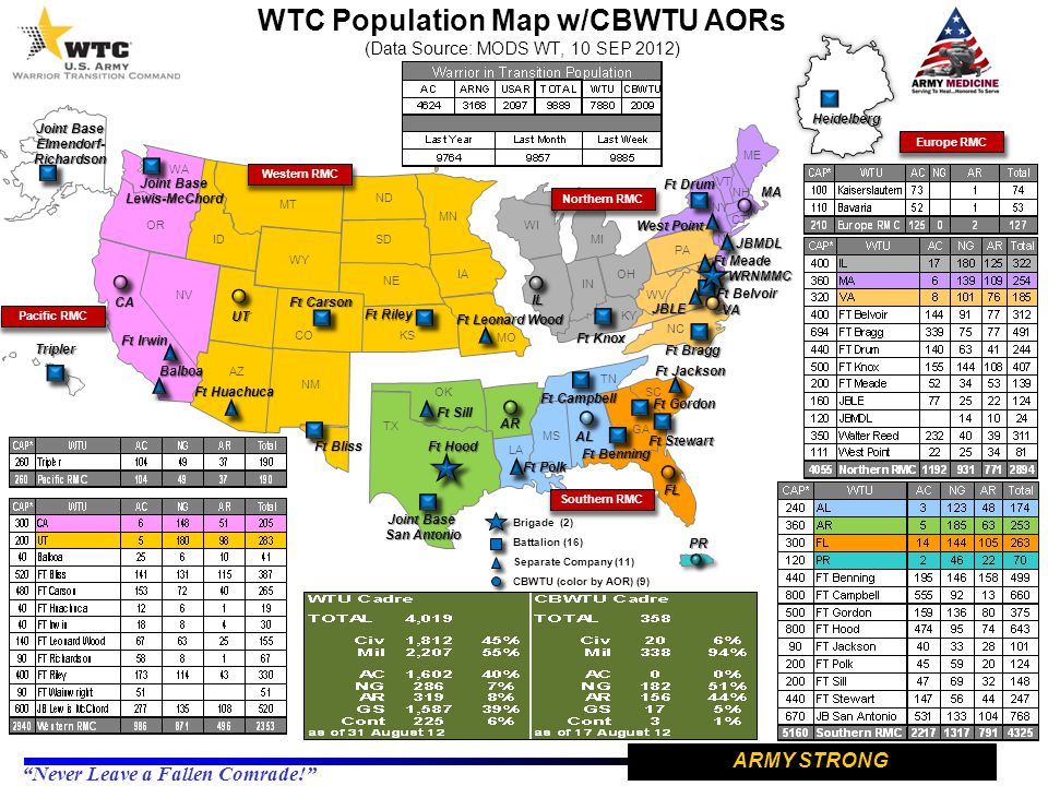 WTC Population Map w/CBWTU AORs