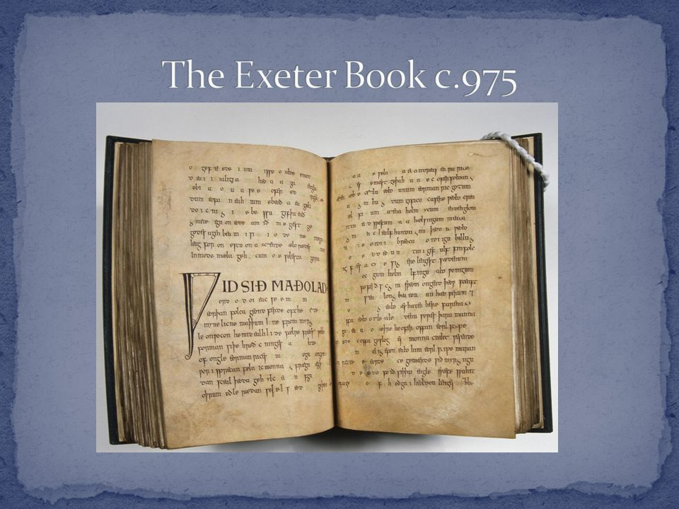 The Exeter Book c.975