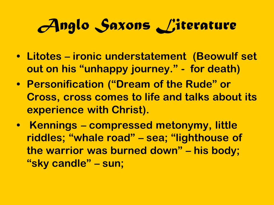 Anglo Saxons Literature