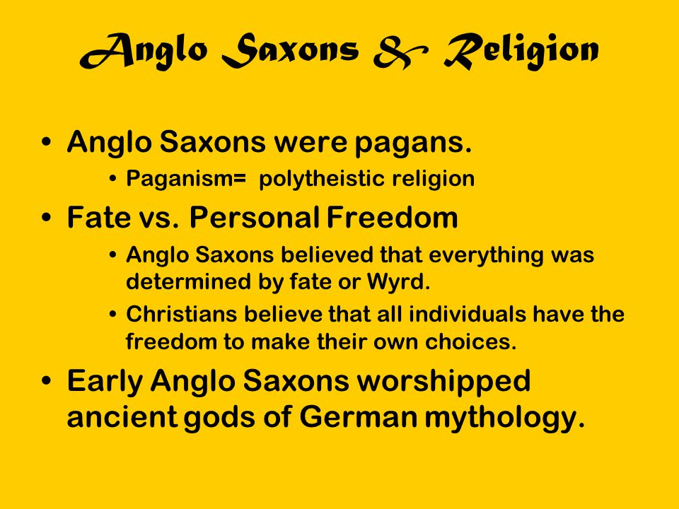 Anglo Saxons & Religion