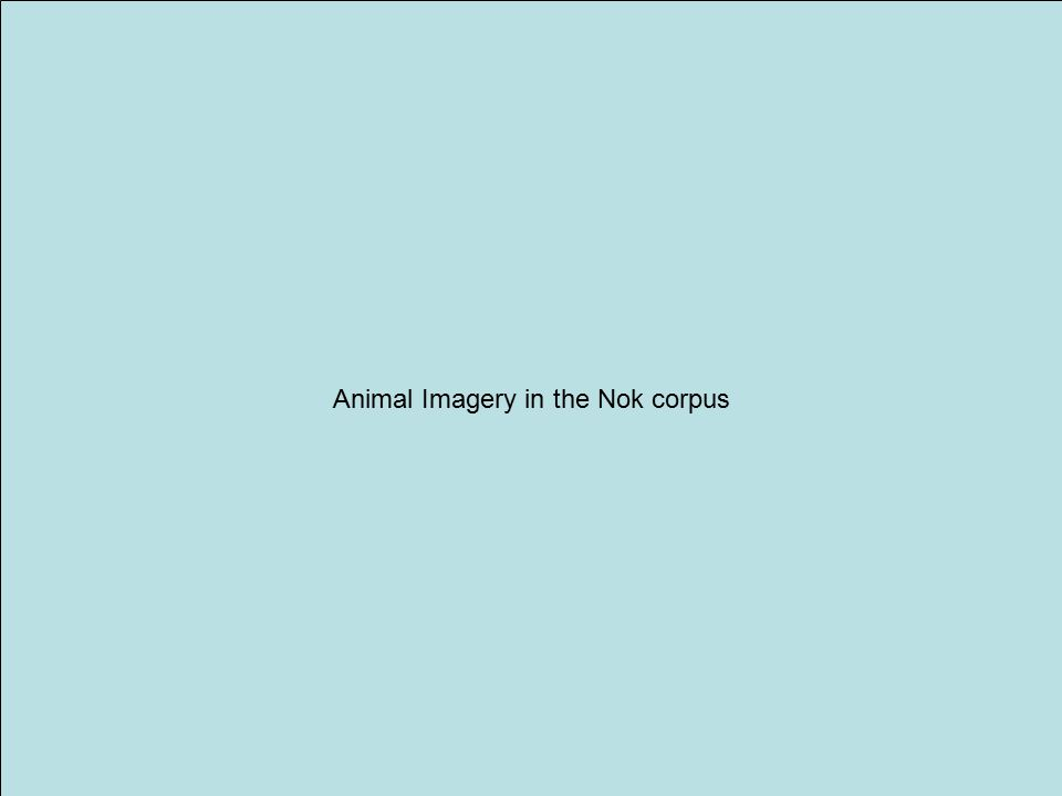 Animal Imagery in the Nok corpus