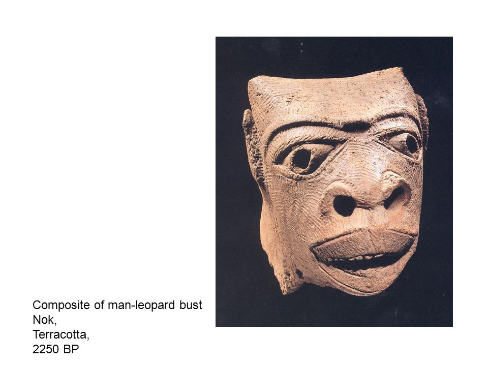 Composite of man-leopard bust