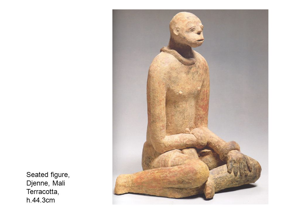 Seated figure, Djenne, Mali Terracotta, h.44.3cm