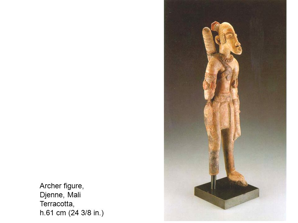 Archer figure, Djenne, Mali Terracotta, h.61 cm (24 3/8 in.)