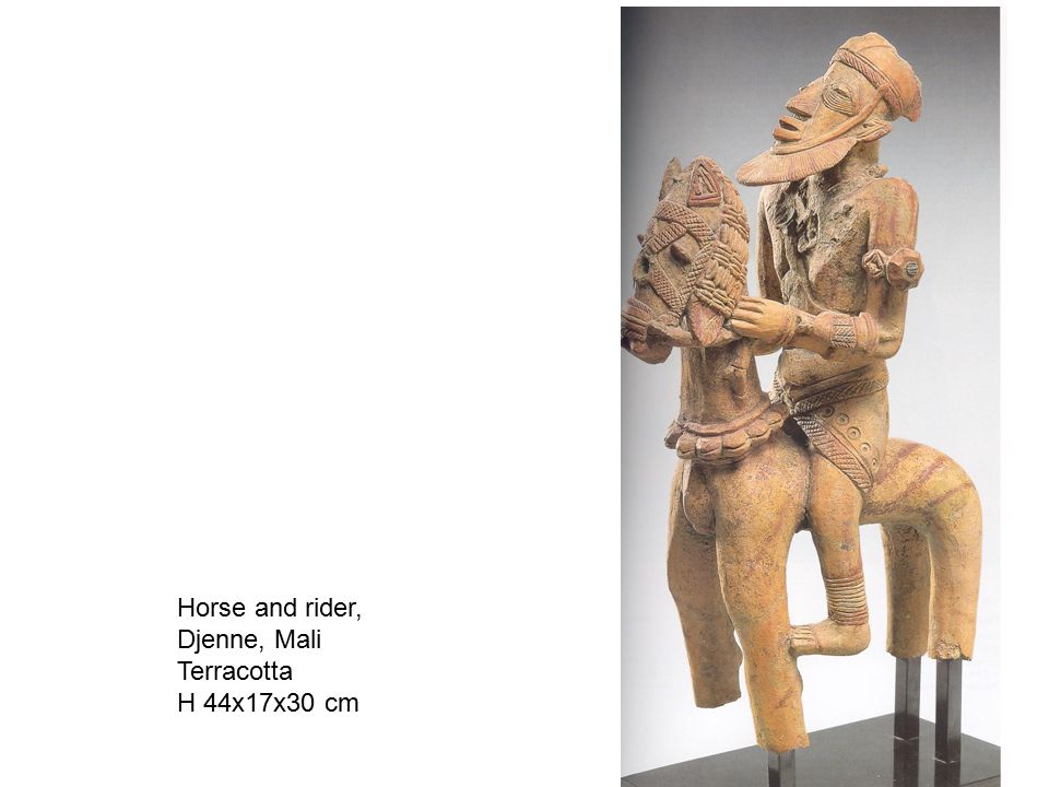 Horse and rider, Djenne, Mali Terracotta H 44x17x30 cm