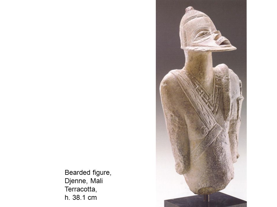 Bearded figure, Djenne, Mali Terracotta, h. 38.1 cm