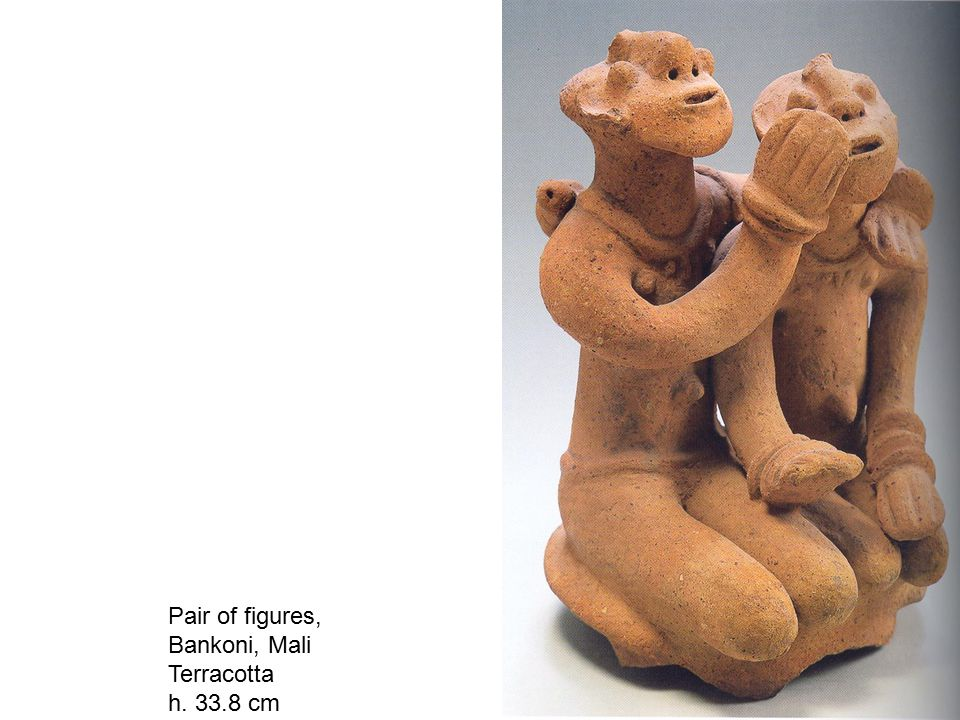Pair of figures, Bankoni, Mali Terracotta h. 33.8 cm