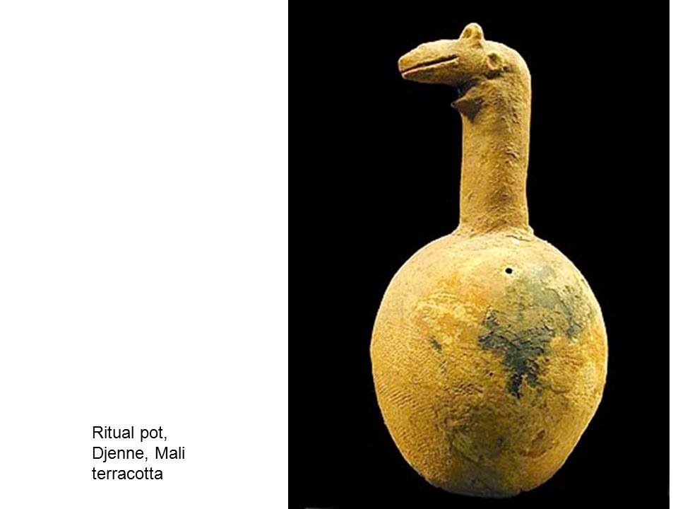 Ritual pot, Djenne, Mali terracotta