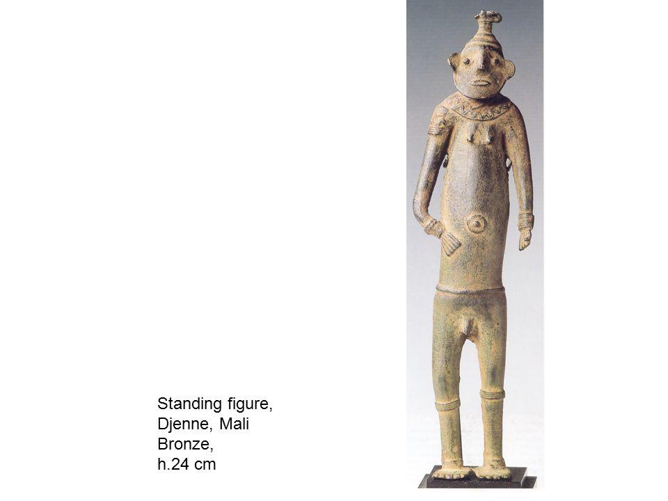 Standing figure, Djenne, Mali Bronze, h.24 cm