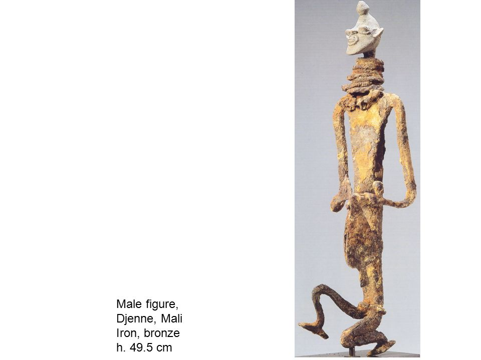 Male figure, Djenne, Mali Iron, bronze h. 49.5 cm
