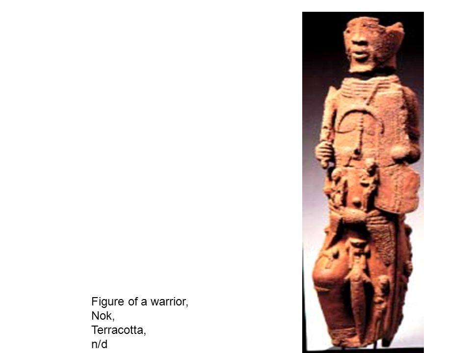 Figure of a warrior, Nok, Terracotta, n/d