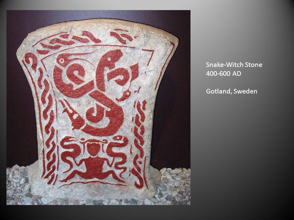 Snake-Witch Stone 400-600 AD Gotland, Sweden