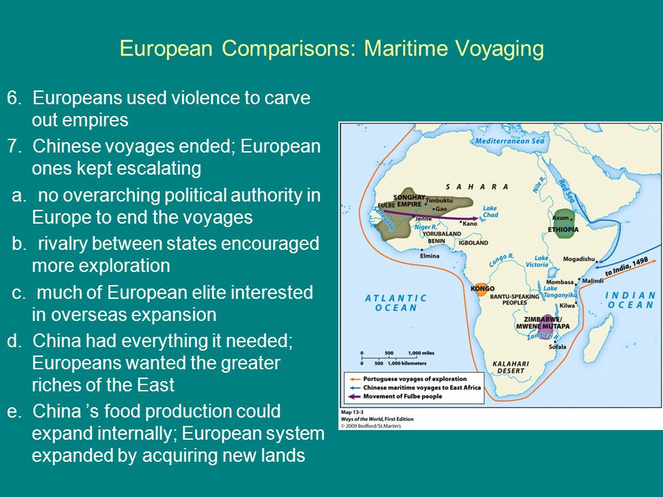 European Comparisons: Maritime Voyaging