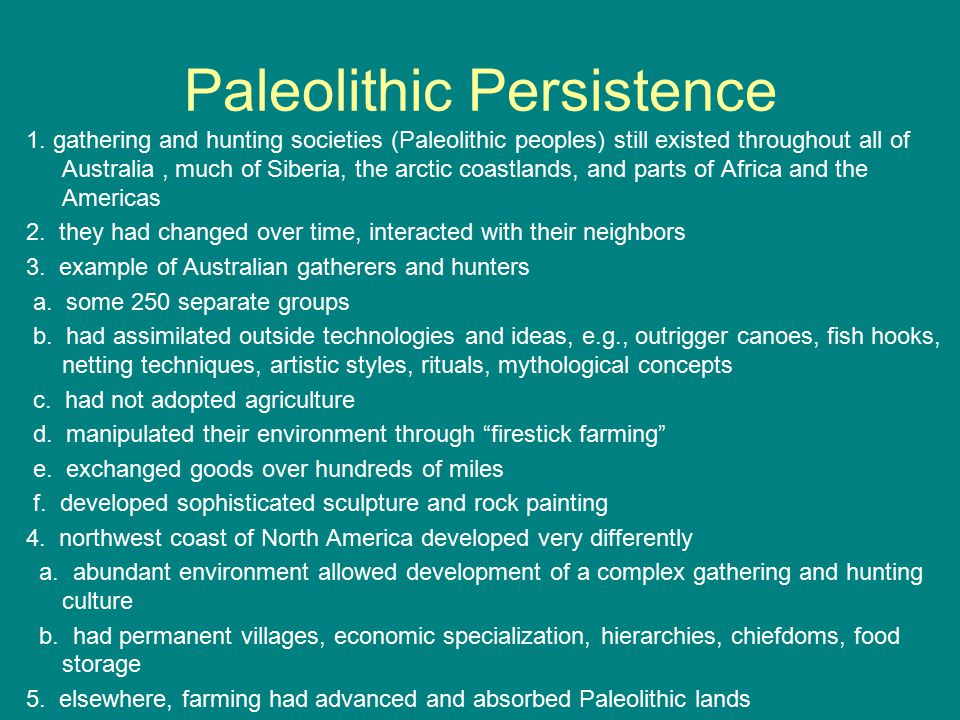 Paleolithic Persistence