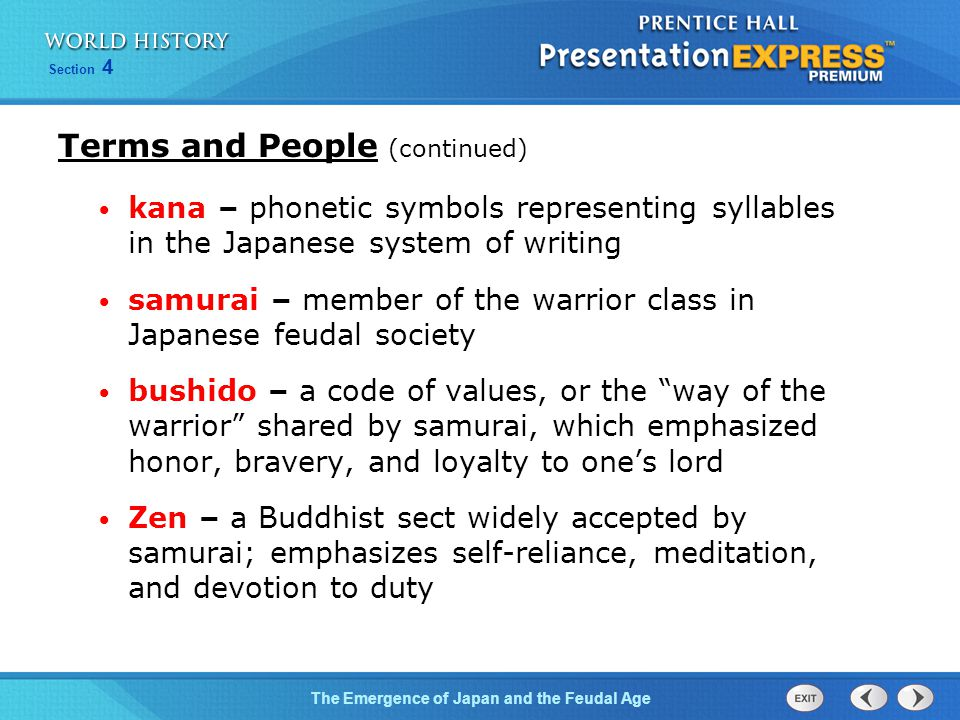 Terms and People (continued)