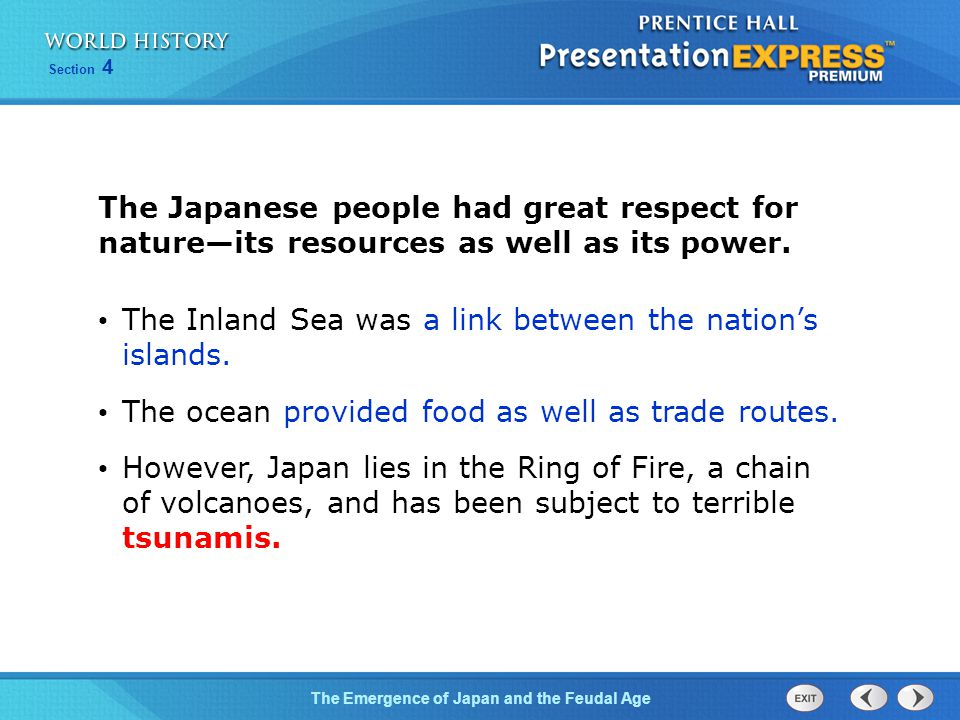 The Inland Sea was a link between the nation's islands.