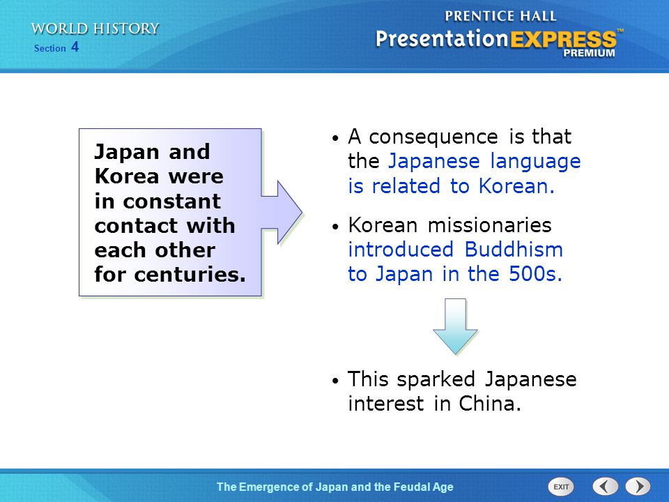 A consequence is that the Japanese language is related to Korean.