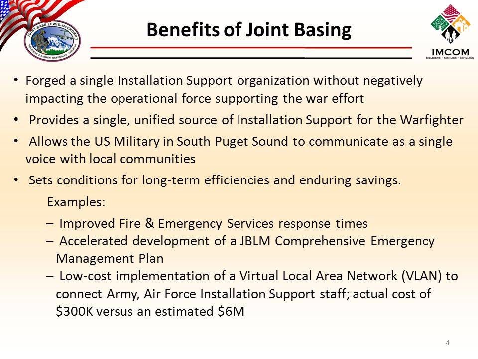 Benefits of Joint Basing
