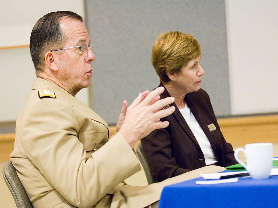 Admiral Mike Mullen, Joint Chiefs of Staff and his wife Ms