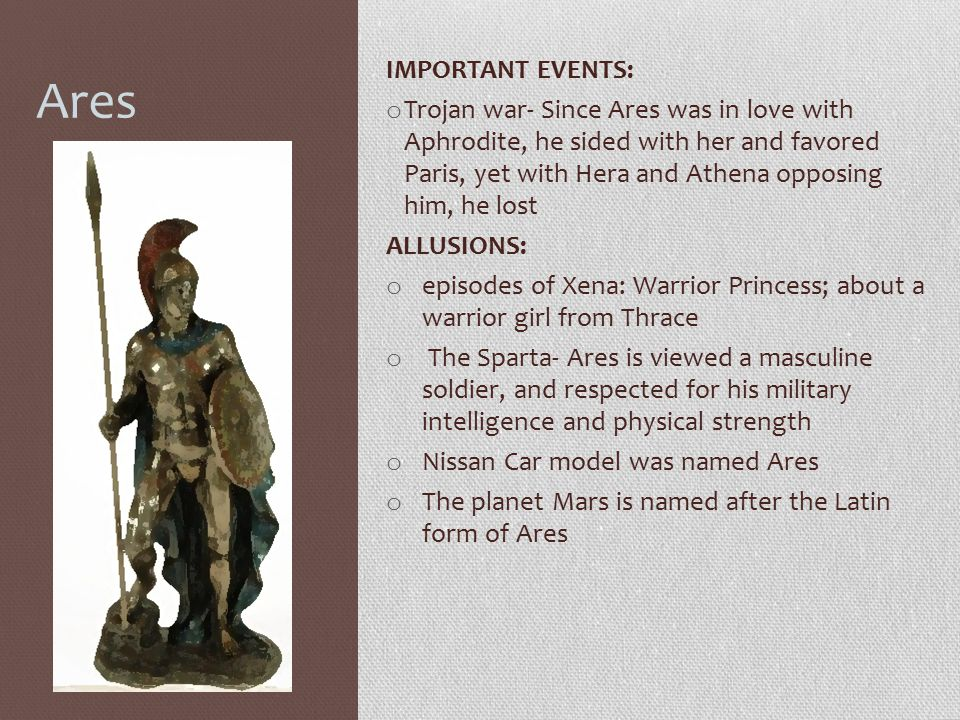 Ares IMPORTANT EVENTS: