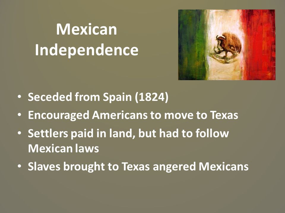 Mexican Independence Seceded from Spain (1824)