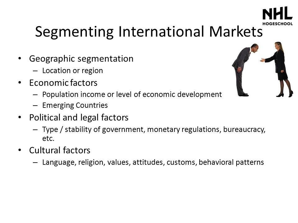 Segmenting International Markets