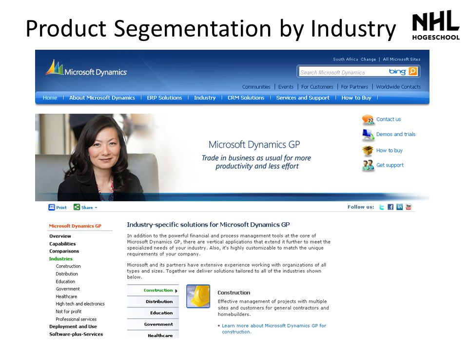 Product Segementation by Industry