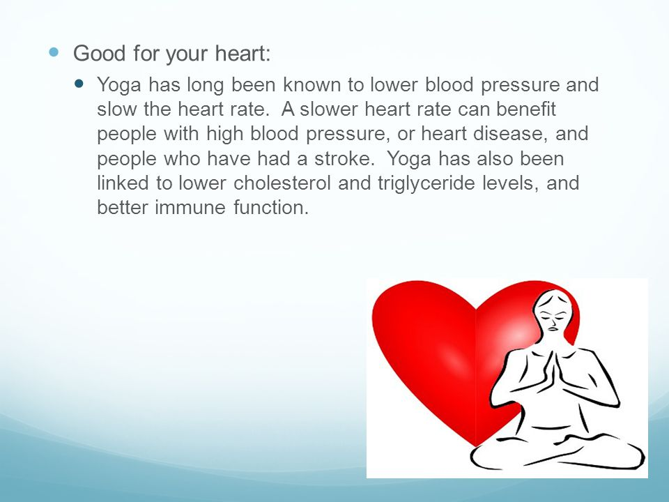 Good for your heart: