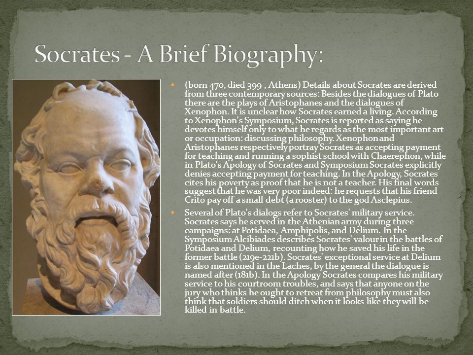 Socrates - A Brief Biography: