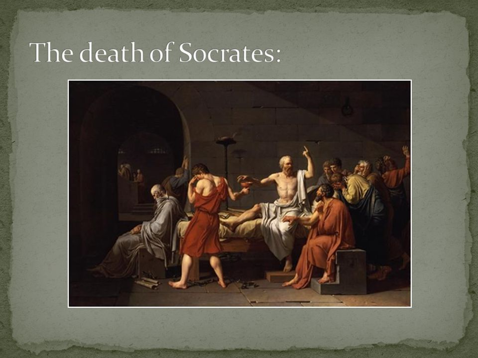 The death of Socrates: Jacques-Louis David (French, Paris 1748–1825 Brussels), Metropolitan Museum of Art.