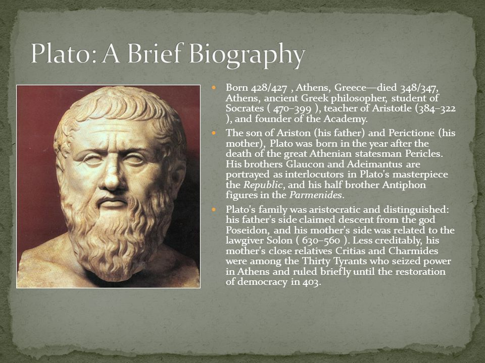 Plato: A Brief Biography