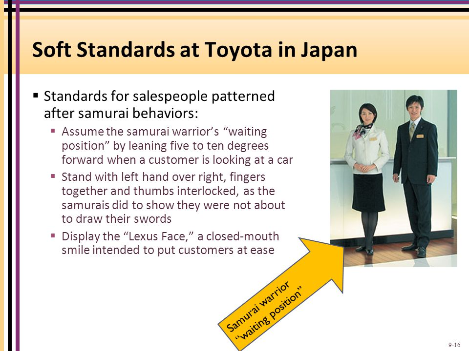 Soft Standards at Toyota in Japan