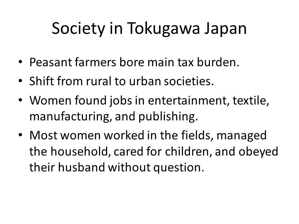 Society in Tokugawa Japan