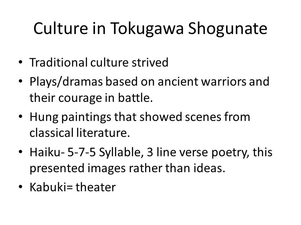 Culture in Tokugawa Shogunate