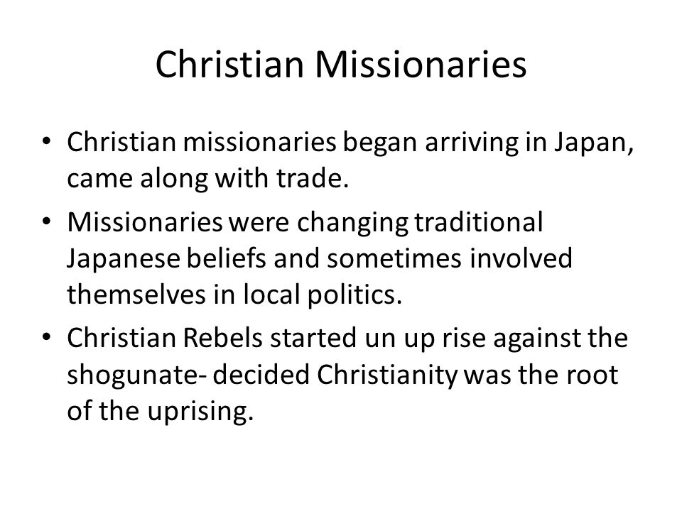 Christian Missionaries