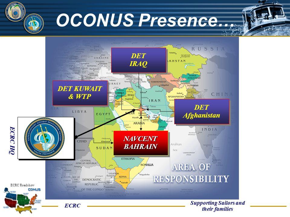 OCONUS Presence… DET IRAQ DET KUWAIT & WTP DET Afghanistan NAVCENT