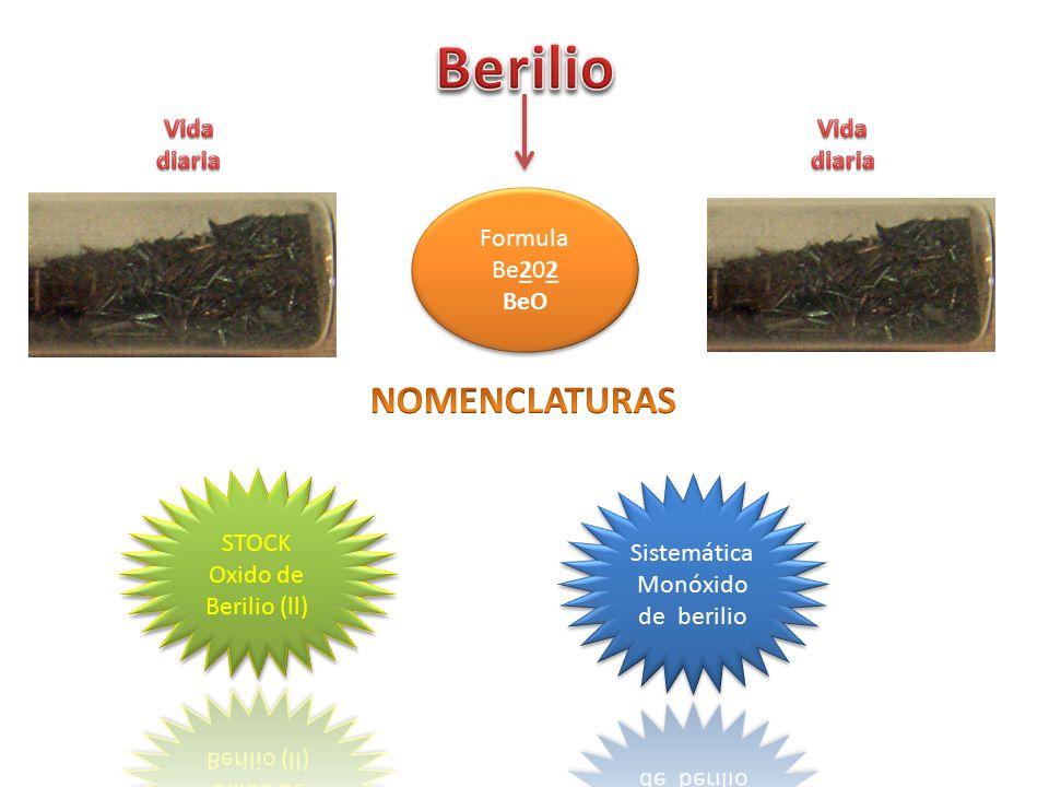 SistemáticaMonóxido de berilio