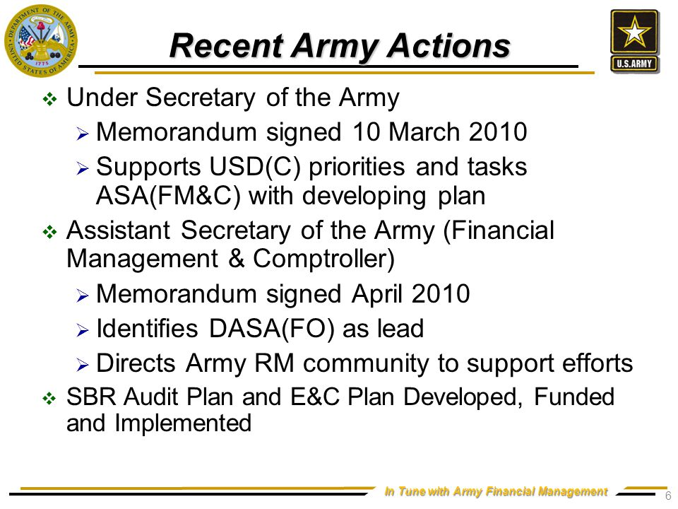 Reporting Documents Army Annual Report Army-wide Annual Financial Statement.