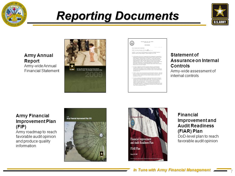 Army Financial Improvement Program