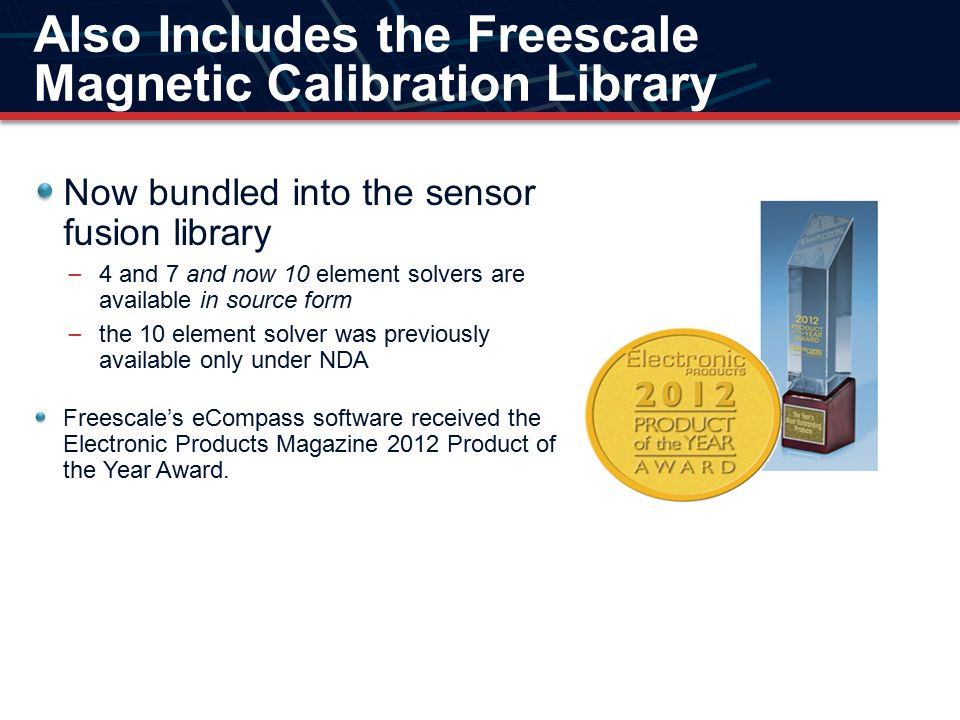 Also Includes the Freescale Magnetic Calibration Library