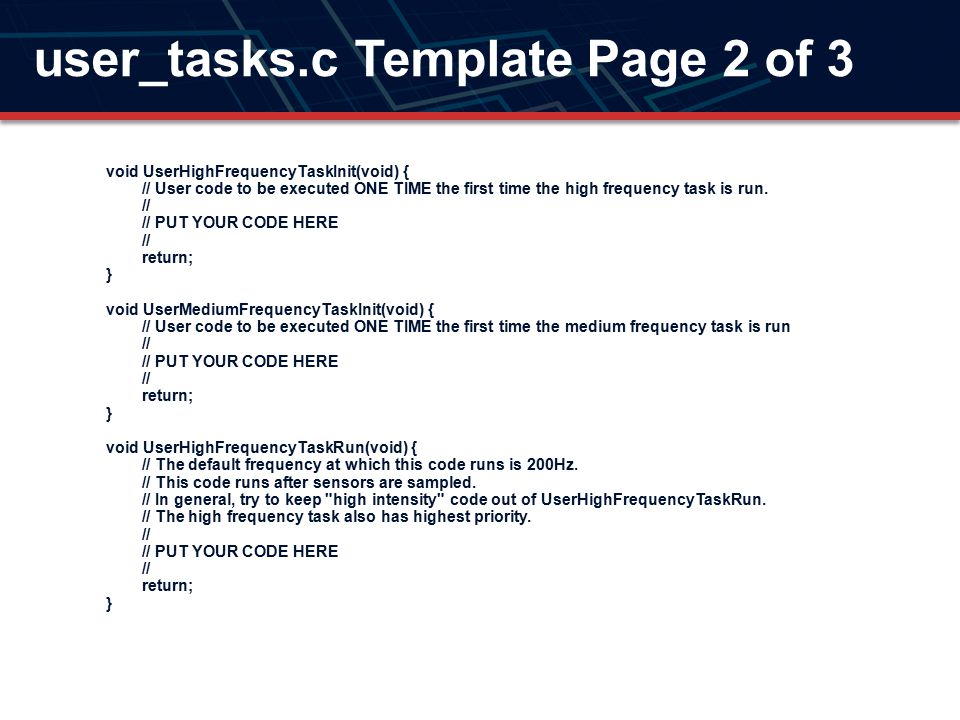 user_tasks.c Template Page 2 of 3