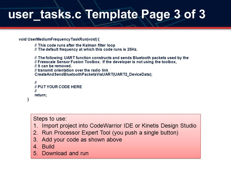 user_tasks.c Template Page 3 of 3