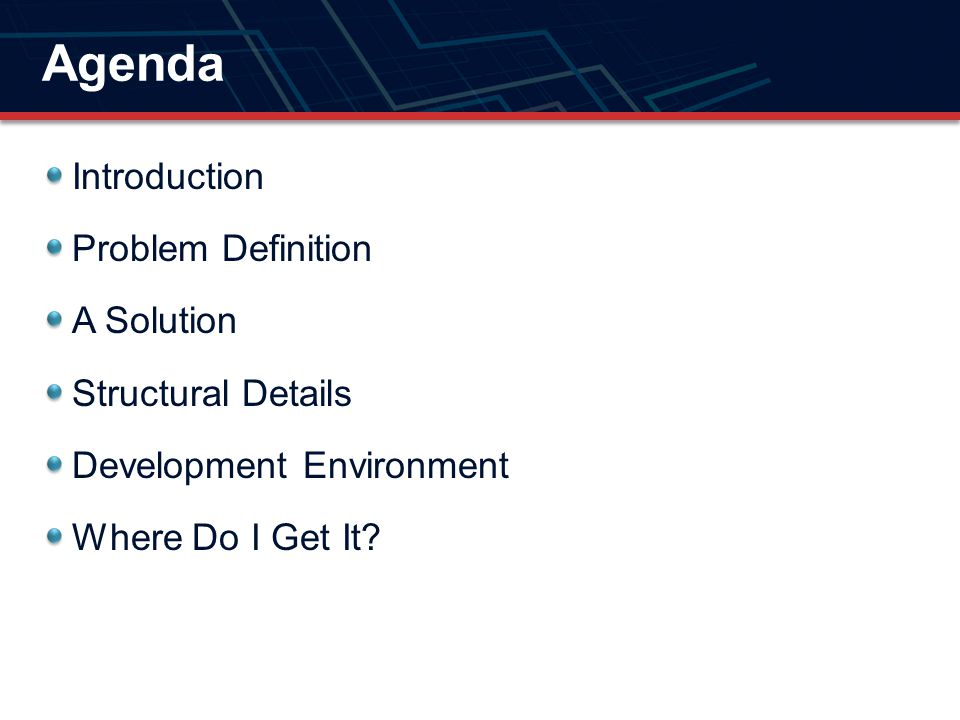 Agenda Introduction Problem Definition A Solution Structural Details