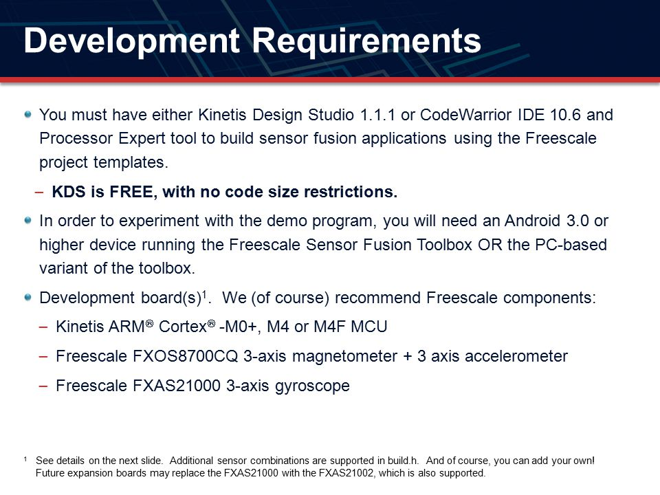 Development Requirements