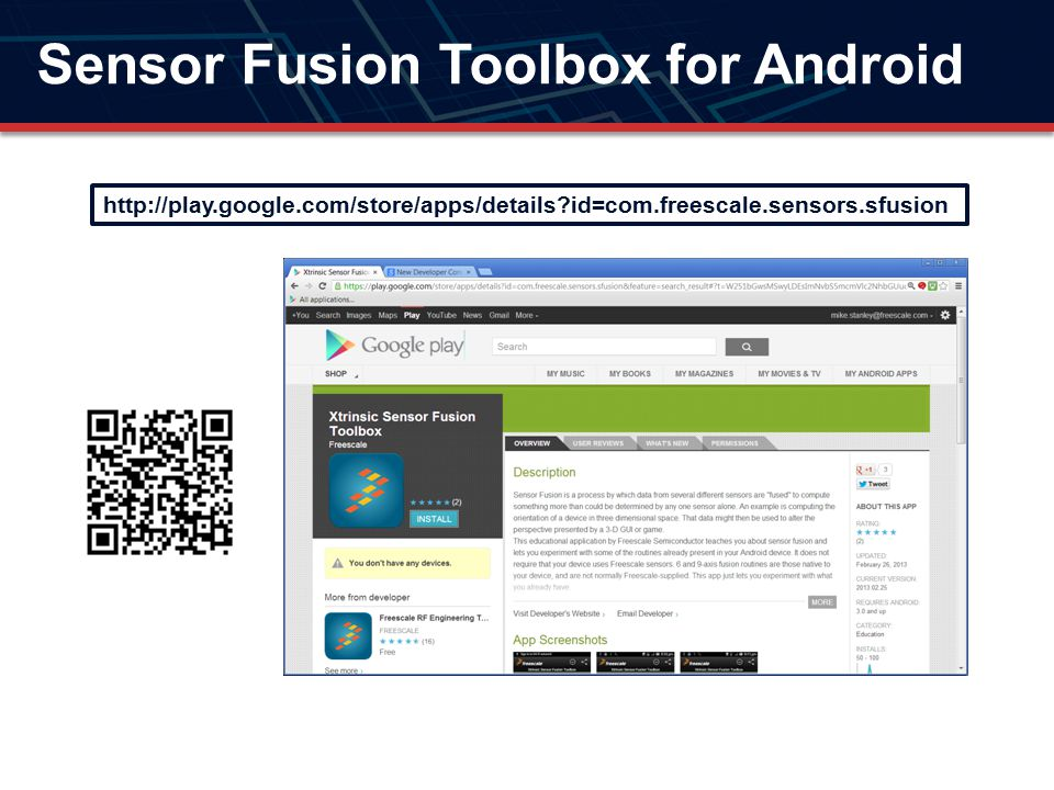 Sensor Fusion Toolbox for Android