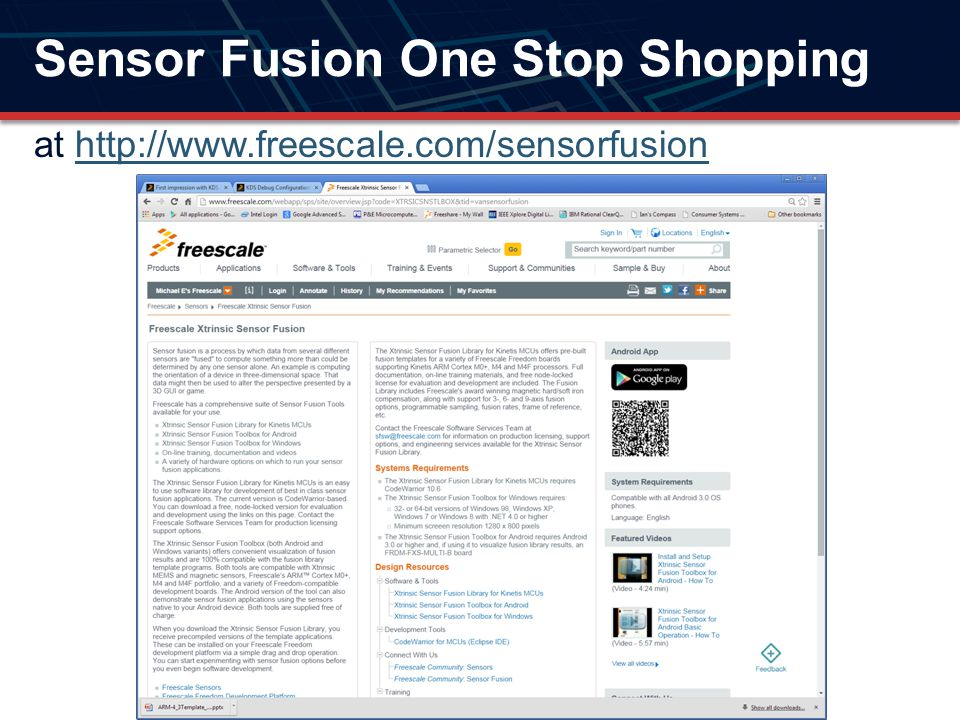 Sensor Fusion One Stop Shopping