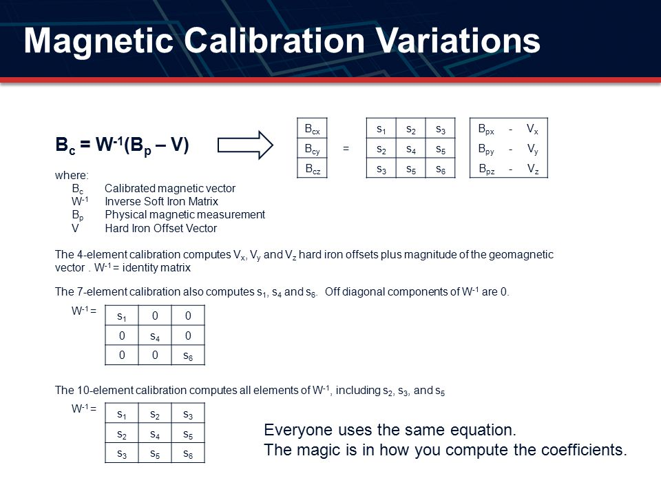 Magnetic Calibration Variations