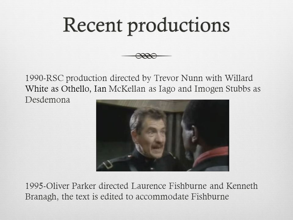 Recent productions