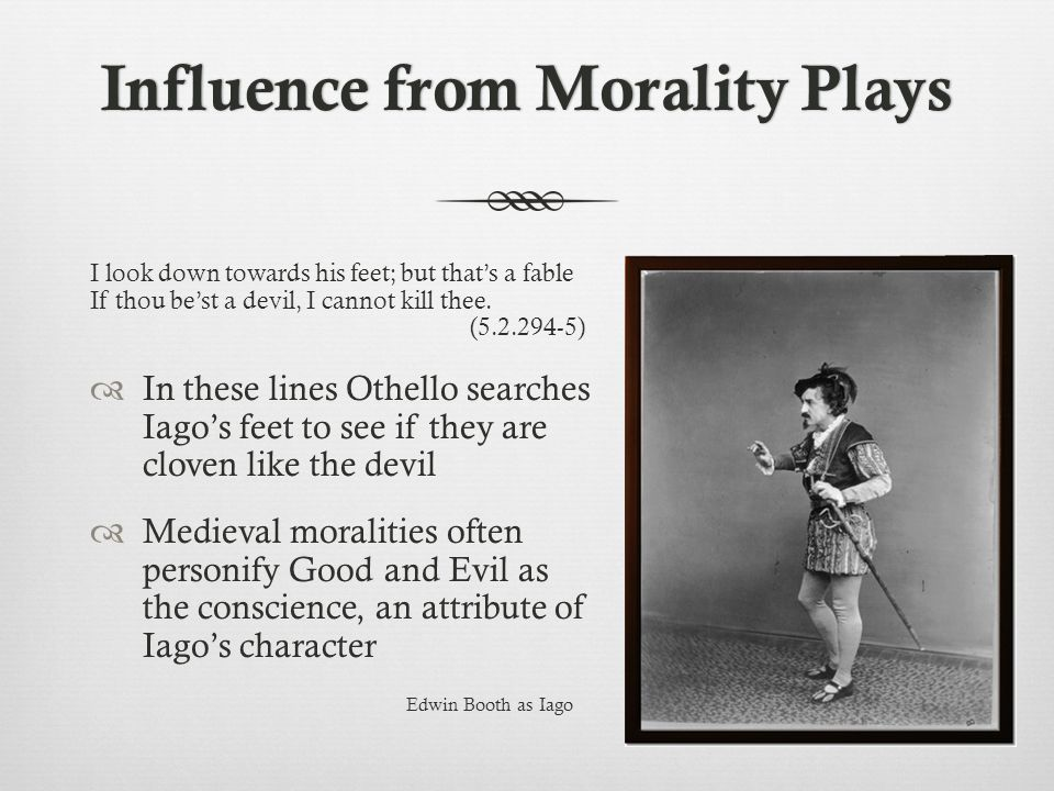 Influence from Morality Plays